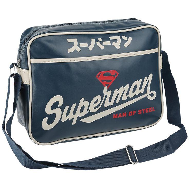 "Borsa a tracolla ""Blue Japanese"" di #Superman."