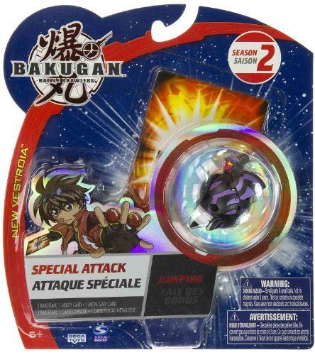 "Boost Ingram (Darkus): Bakugan Battle Brawlers Special Attack - ""NOT"" Randomly Picked (C9775R2) by Spin Master. $13.99. Special attack includes: 1 Bakugan, 1 ability cards, and 1 metal gate cards. Warning! Risk of serious digestive injuries in the event that magnets are swallowed!. For age 5 and up. Bakugan Battle Brawlers Special Attack series. ""NOT"" randomly picked, check out the product image as a reference.. Bakugan Battle Brawlers are here! Answer ""The ca..."