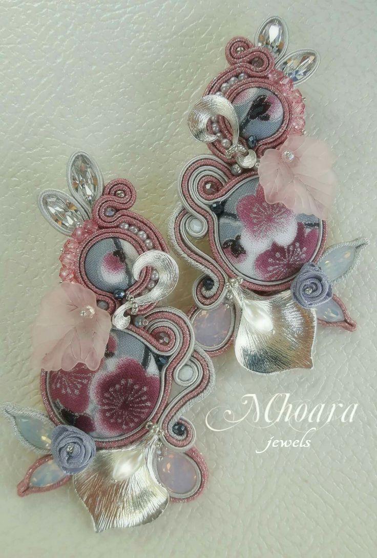 Soutache Jewelry by Mhoara #earrings #soutache #mhoarajewels