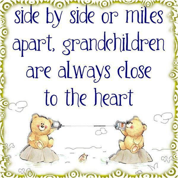 My grandchildren are always close to my heart!                                                                                                                                                      More