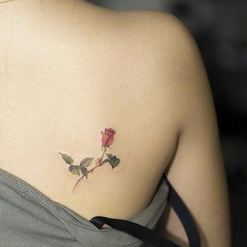 Delicate Red Rose Inking