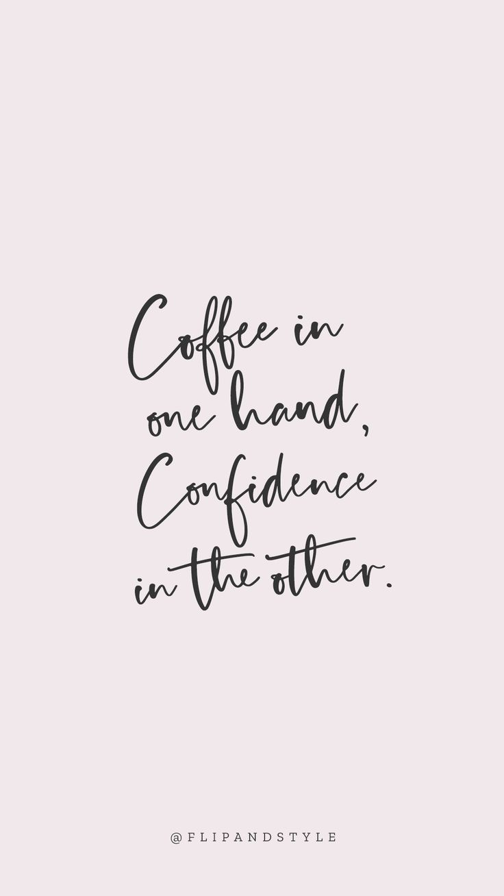 Free iphone wallpaper ♡ Blush pink background – coffee & confidence