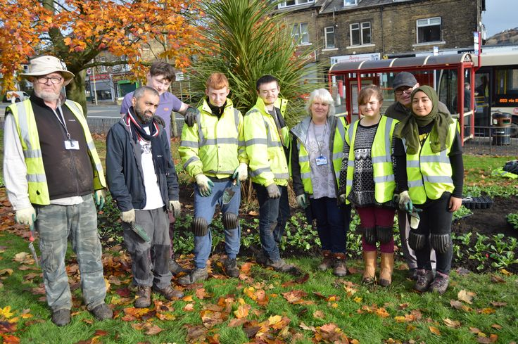 Bradford Works team and Shipley College students