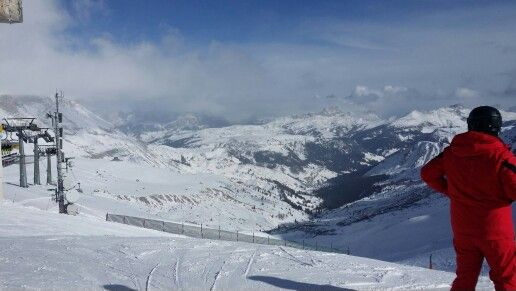 Skiing Canazei Italien