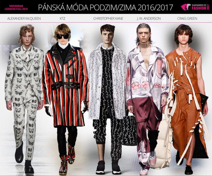 Pánská móda podzim/zima 2016/2017 z Londýna.