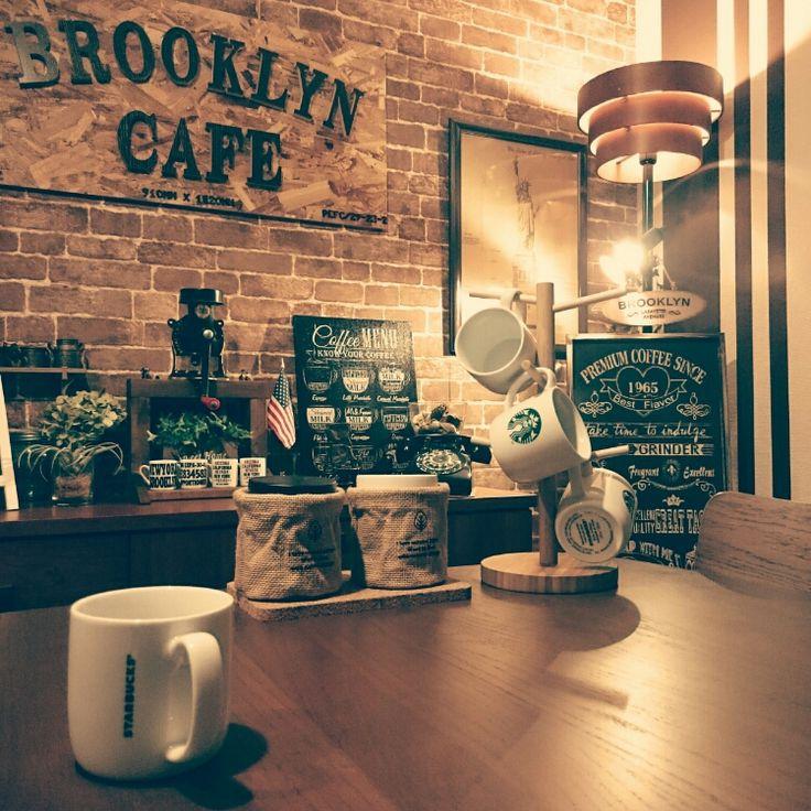 リビング/星条旗/看板/カフェ/セリア/STARBUCKS COFFEE…などのインテリア実例 - 2016-02-06 22:04:19 | RoomClip(ルームクリップ)