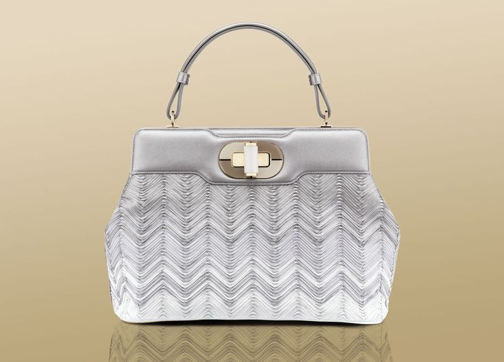 "Bulgari ""Isabella Rossellini"" large handbag in ivory nappa leather ..."