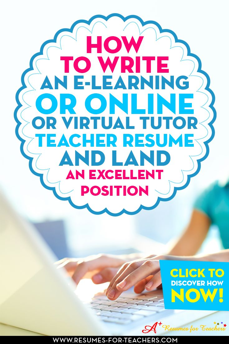 how to write a resume for a teacher