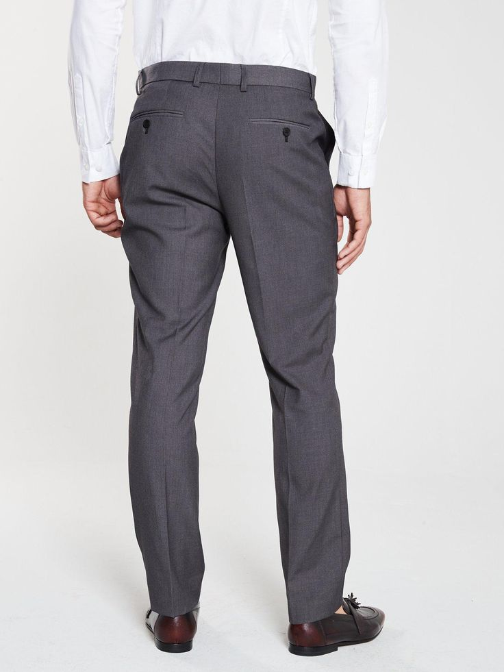 V By Very Slim Suit Trousers – Grey, Charcoal, Siz…