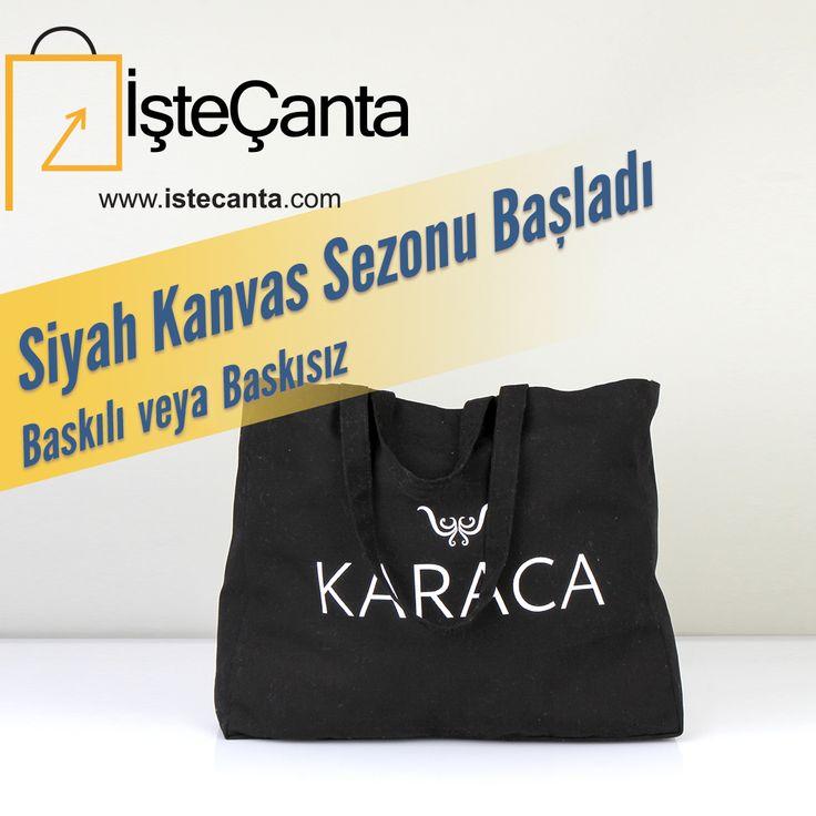 Siyah kanvas çantalar ister baskılı, ister baskısız olarak İşte Çanta'da! Baskılı siparişleriniz için bize 0212 643 2100 numaralı telefondan veya destek@istecanta.com mail adresinden ulaşabilirsiniz. #bezcanta #siyahcanta #kanvas #toptan #totebag