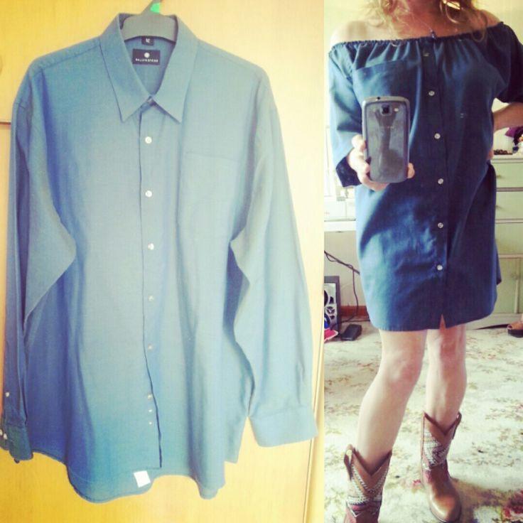 Oversized mens shirt / cute summer dress