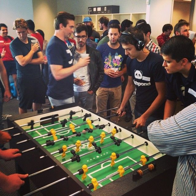 Heated foosball tourney at Wishpond