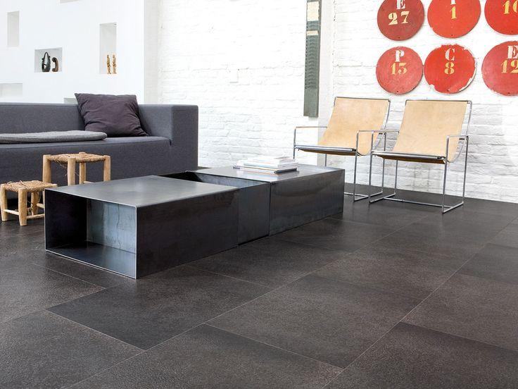 Large Cork Flooring In Dark Tile