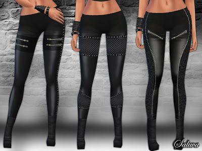 The Sims 4 by Kasia: Skórzane spodnie
