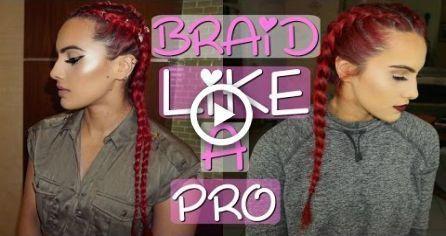 HOW TO FRENCH/DUTCH BRAID for beginners #hair #bra…