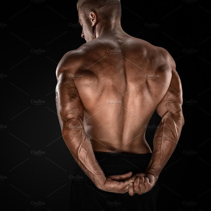Male bodybuilder showing his back by Usmanov Stock Photography on @creativemarket