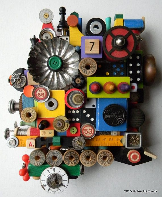 Recycled Assemblage Number 7 Found Object Art by redhardwick