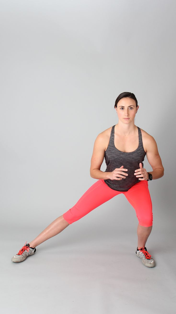 Side lunges - do 15 on each side