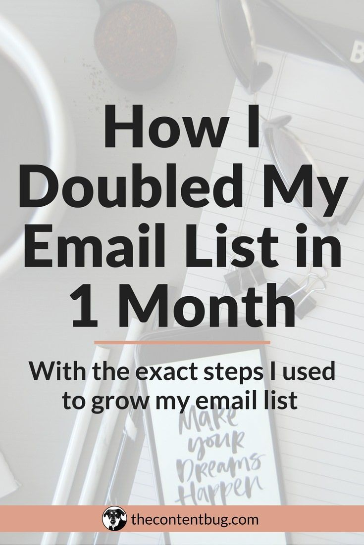 How I Doubled My Email List in 1 Month | Want to grow your email list fast? Yeah, well I've been there. I struggled to gain 10 subscribers month after month. But after using these actionable steps, I doubled my email list in just 30 days! Learn the steps