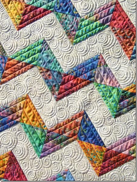 chevron by Tamarack Shack - love the quilting design - want to do this whenever I get my chevron quilt made!