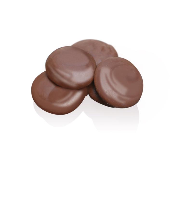 Milk Chocolate Buttons: Velvety with soft caramel undertones.