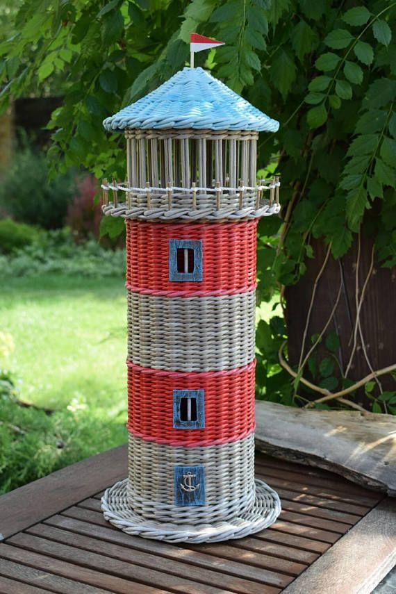 Lighthouse House Basket for toilet paper Storage Toilet paper