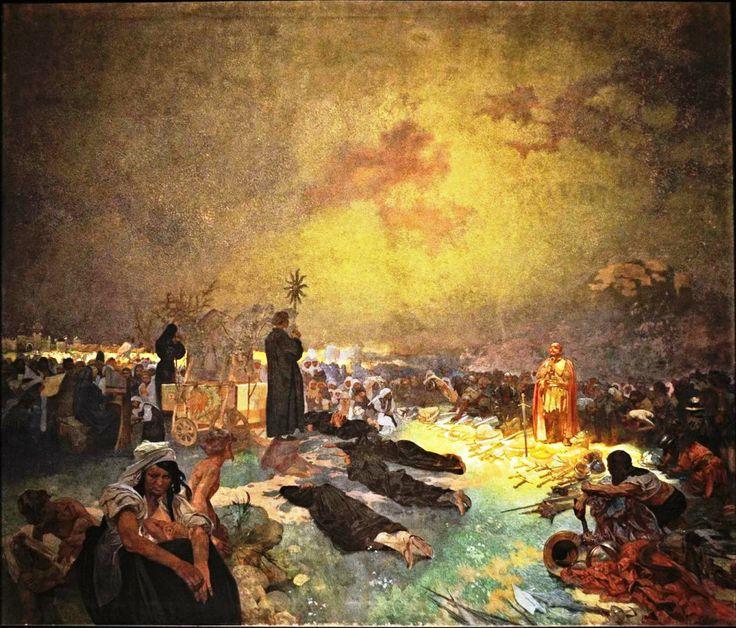 Po bitvě na Vítkově (Slovanská epopej) - Alphonse Mucha