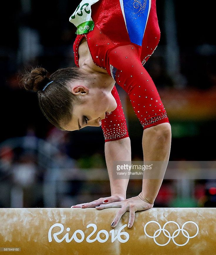 Russia's Aliya Mustafina performs her balance beam routine to win silver in the artistic gymnastics women's team final at the Rio 2016 Summer Olympic Games, at the Rio Olympic Arena. Valery Sharifulin/TASS