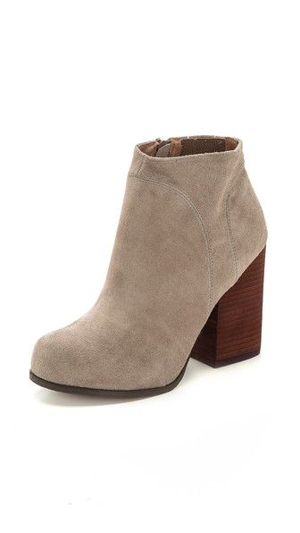 Suede booties complete every fall outfit.     Jeffrey Campbell Hanger Suede Booties