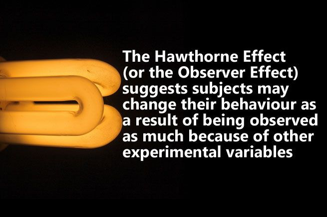 When conducting research on how people behave, it's important to consider the Hawthorne Effect. But why?A really, really quick introduction.