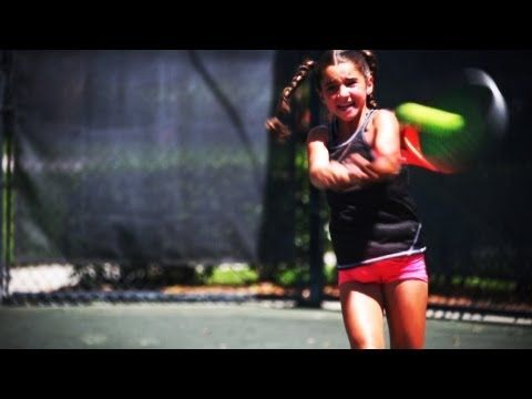 ▶ Unstoppable 9-Yr-Old Tennis Prodigy! - YouTube: What you have inside to get the ball. #Tennis #Gabriela_Price