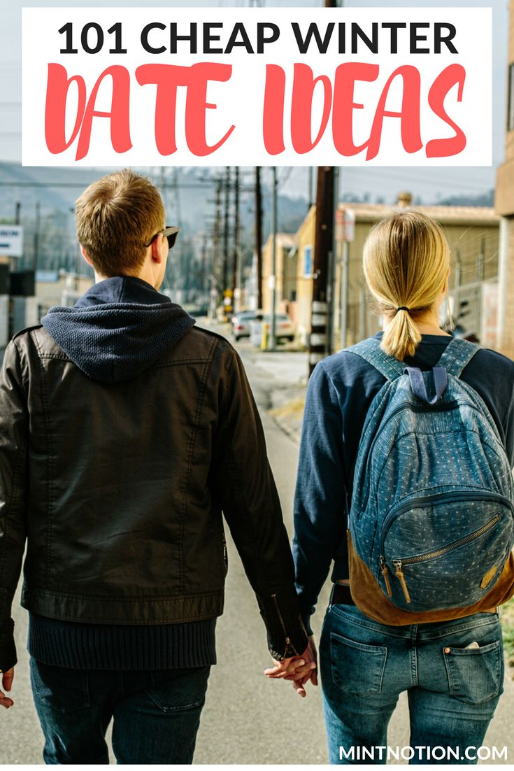 101 cheap winter date ideas. This list is PERFECT for couples who want to save money. It includes many free date ideas for fall and winter. (frugal dates)                                                                                                                                                                                 More