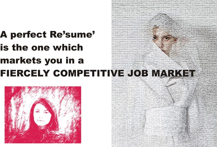 RE'SUME' WRITING And it is no regular piece of document, which you fold it and carry in your pocket. This leads straight to the fact – Résumé is your MARKETING DOCUMENT.  A perfect Résumé is the one which markets you in a FIERCELY COMPETITIVE JOB MARKET.  read more : http://englishandliterature.com/resume-writing/