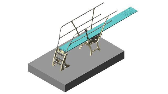 Прыжковый стенд с поручнями. Для соревнований DuraFlex США 70-231-400