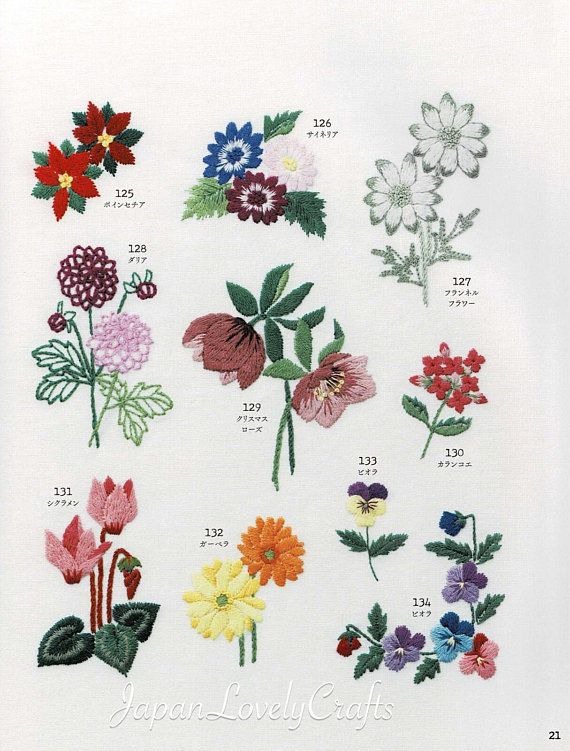 Flower Garden Embroidery Patterns Embroidered Botanical Sampler