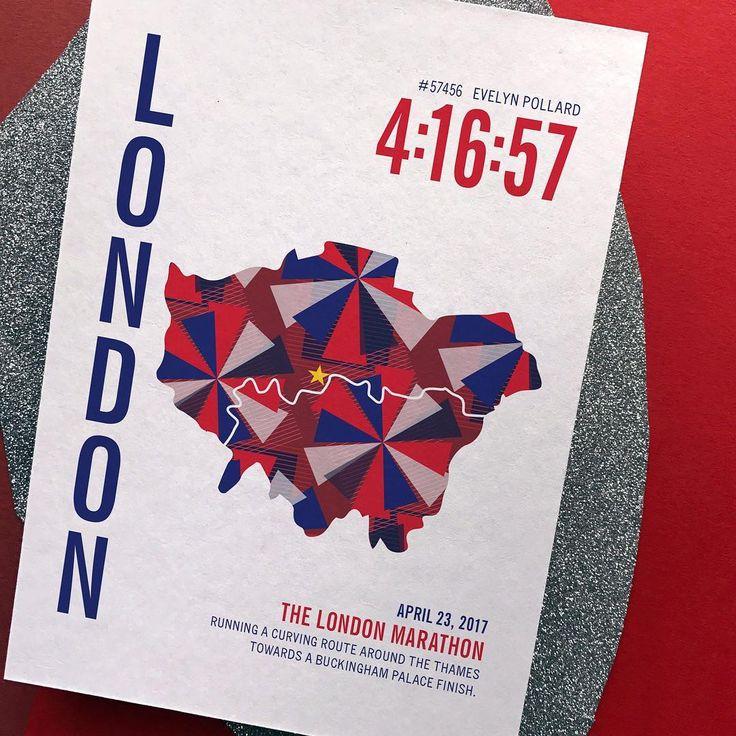 London Marathon Map gift for runner