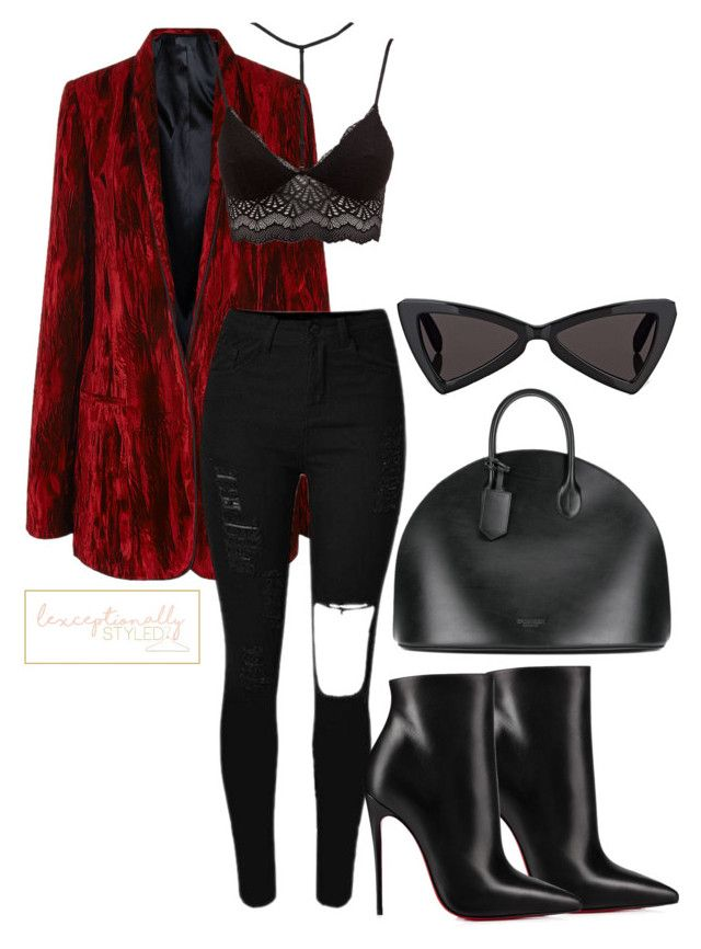 """Untitled #750"" by lexceptionallystyled on Polyvore featuring Haider Ackermann, Christian Louboutin, Charlotte Russe, Calvin Klein 205W39NYC and Yves Saint Laurent"