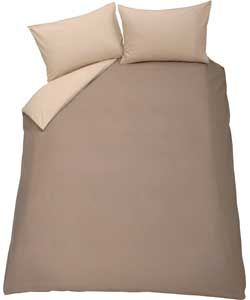 ColourMatch Cafe Mocha and Cream Duvet Cover Set - Double.