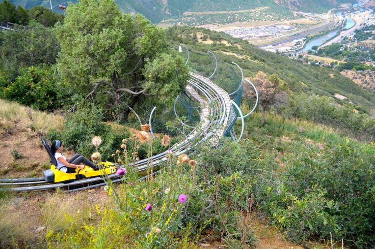 The first alpine coaster in the USA is at Glenwood Adventure Park in Glenwood Springs. So fun!