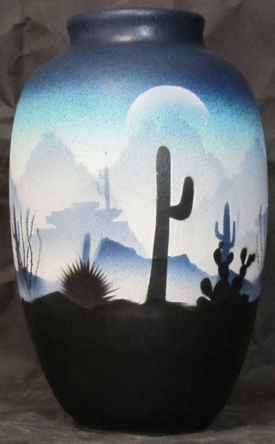 "Sonora Desert Pottery - Ginger Jar. 6"" x 10"". Authentic Native American Pottery hand painted by Navajo and Ute Indian Artists. Certificate of Authenticity with each piece. Southwest Pottery. Sonoran Desert.  $61.95"