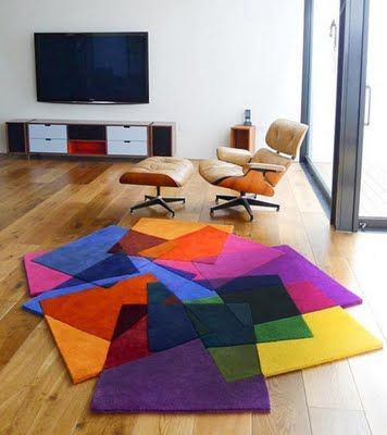 awesome color block rug