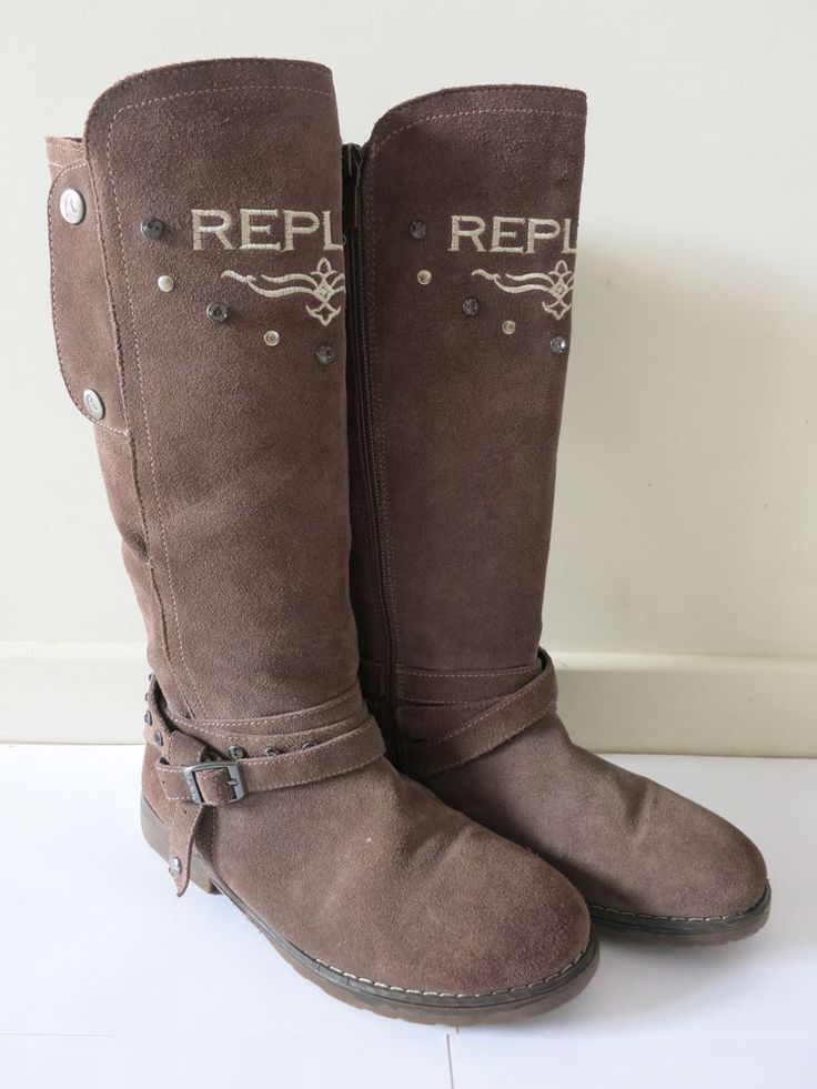 REPLAY Boots Brown Suede Long Size 37 BUY 4 or more items 4 FREE POST #Replay #Comfort #Casual