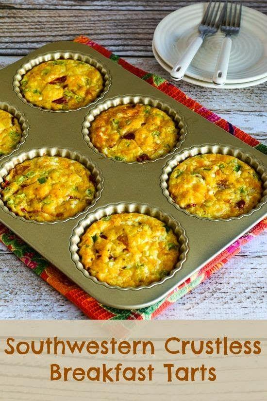 Southwestern Crustless Breakfast Tarts Recipe (Low-Carb, Gluten-Free) [from KalynsKitchen.com]