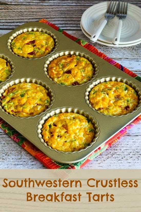 Kalyn's Kitchen®: Southwestern Crustless Breakfast Tarts Recipe (Low...