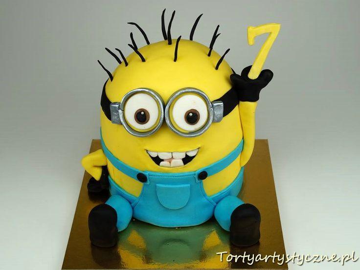 Minionek tort dla dzieci