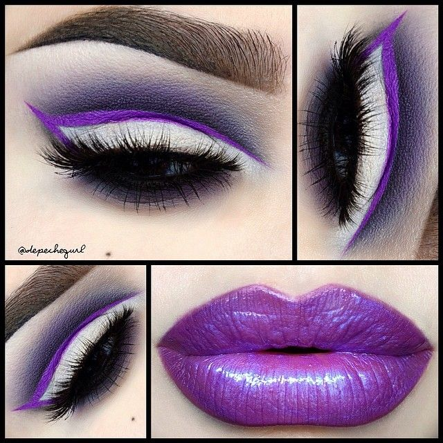 """#ShareIG Lips - @meltcosmetics """"By Starlight"""" Lipstick as a base with @premiumvanity """"Earthlink"""" Lip Gloss on top. Eyes - @limecrimemakeup """"Orchidaceous"""" Liquid Liner. Maybelline Color Tattoo """"Vintage Plum"""" Eyeshadow as a base. MAC Eyeshadows in """"Indian Ink,"""" """"Shadowy Lady,"""" """"Carbon,"""" & """"Blanc Type."""" @femmefatalelashes """"Double Double"""" Mink Lashes. All @kizmet brushes used."""