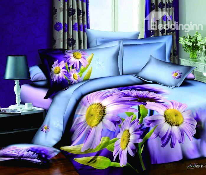 3d Comforters Part - 34: Purple 3d Bedding