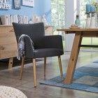 Stuhl, hellgrau Lamole - 4 Fuß Stühle - Stühle & Freischwinger - Esszimmer - Möbel