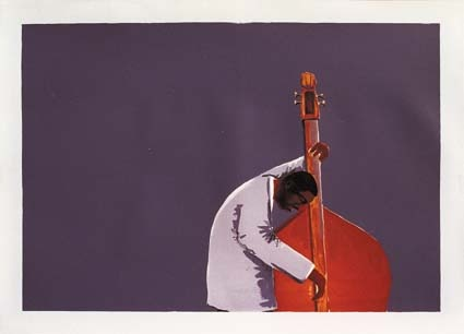 Inspired by Ron Carter by Sam Nhlengethwa
