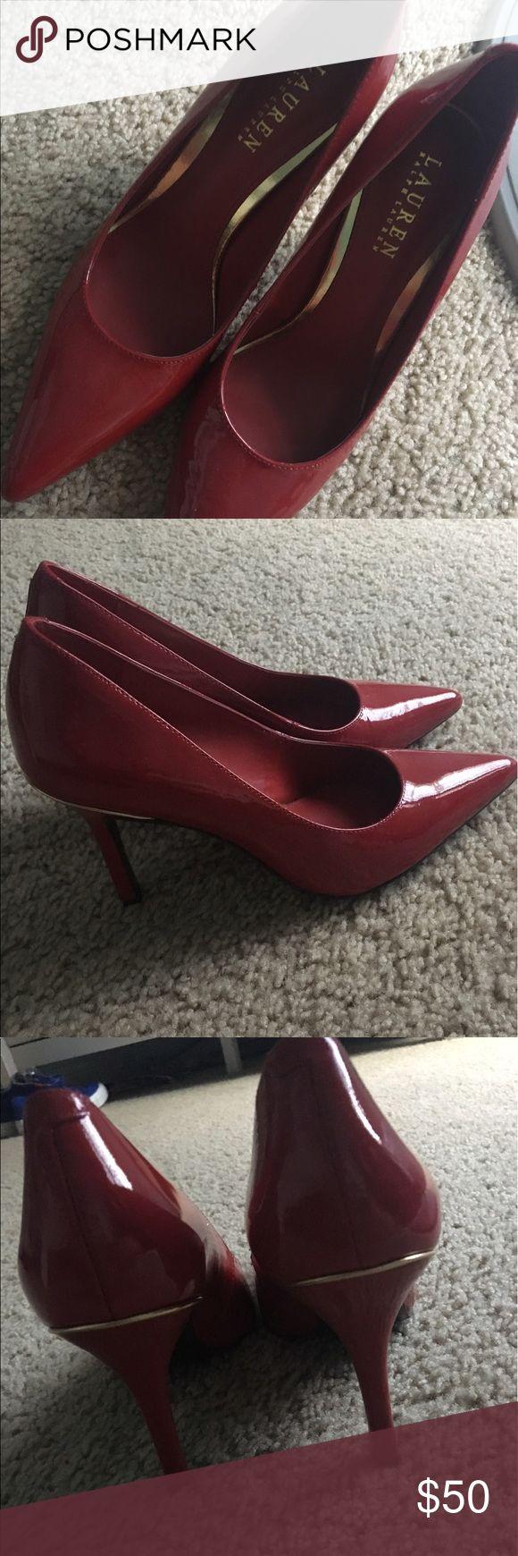 Red Polo Ralph Lauren Heels Super cute NEVER WORN red polo heels! Super classy and sassy! Polo by Ralph Lauren Shoes Heels